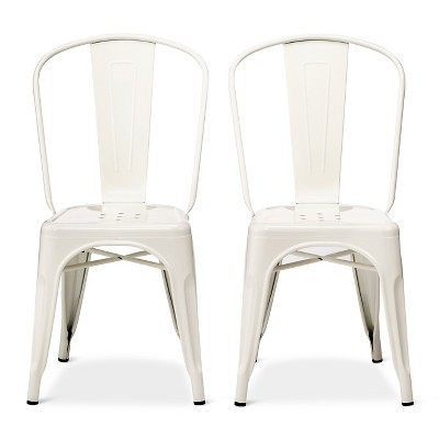 Carlisle High Back Metal Dining Chair Set of 2 - White - Ace Bayou