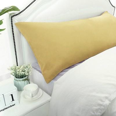 1 Pc Body 1800 Series Soft Brushed Microfiber Pillowcase Gold - PiccoCasa