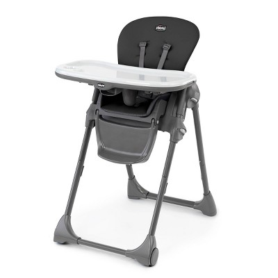 Chicco Polly Compact Fold Easy-Clean High Chair - Black