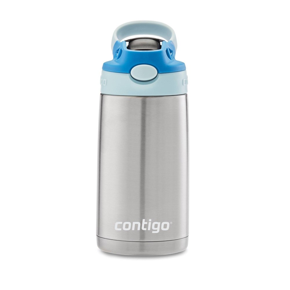 Image of Contigo 13oz Stainless Steel Kids Autospout Water Bottle Blue