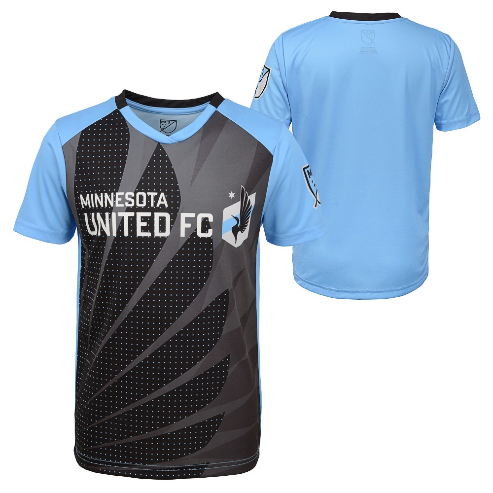 Boys' Short Sleeve Game Winner Sublimated Performance T-Shirt Minnesota United FC S, Multicolored