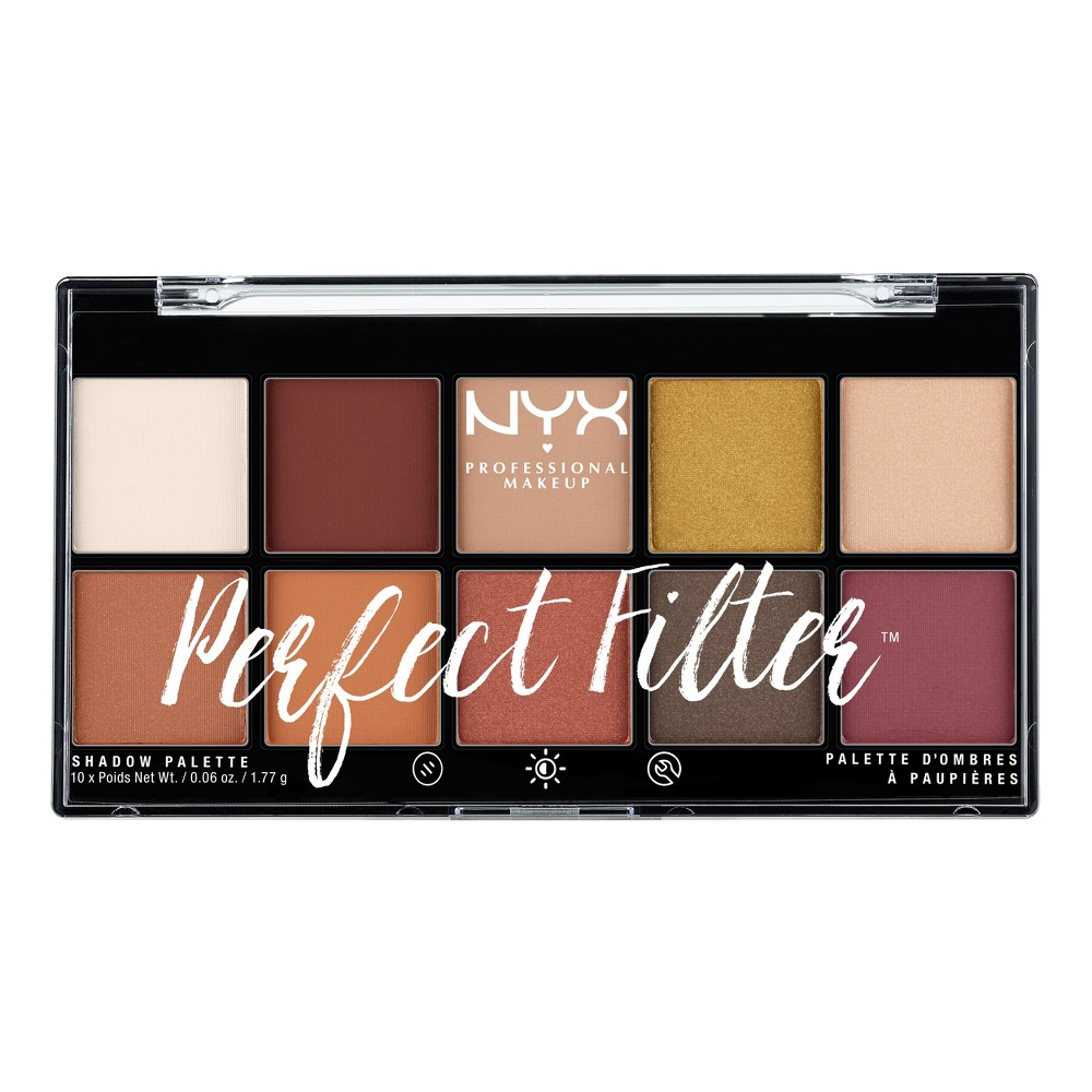 Nyx Professional Makeup Perfect Filter Shadow Palette Rustic Antique - 0.6oz