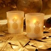 2ct Battery Operated Wax LED Candles Filled in Glass Holders - image 4 of 4