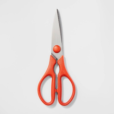 Stainless Steel and Plastic Kitchen Shears Red - Room Essentials™