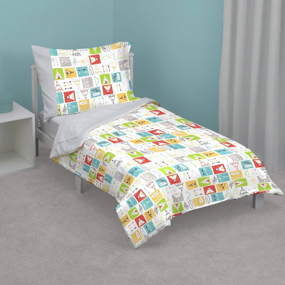 Image of NoJo 4pc Tee Pee Toddler Bedding Set