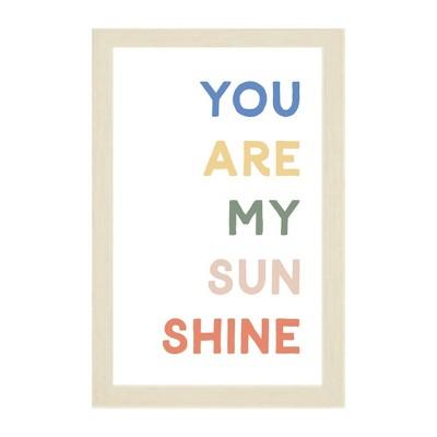 "16"" x 24"" You are My Sunshine Kids' Magnet Board Wall Art Natural - Petal Lane"