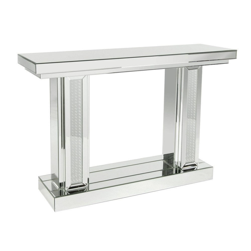 Glam Wood Console Table Silver Olivia 38 May
