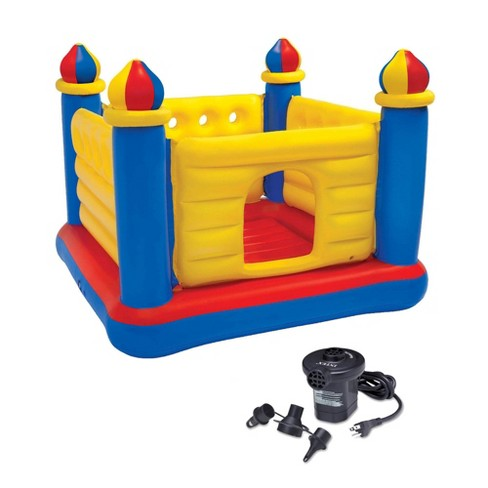 INTEX Inflatable Jump-O-Lene Ball Pit Castle Bouncer & Quick Fill Air Pump - image 1 of 4
