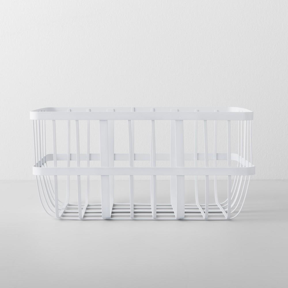 Kitchen Cabinet Organizer Basket Large White - Made By Design