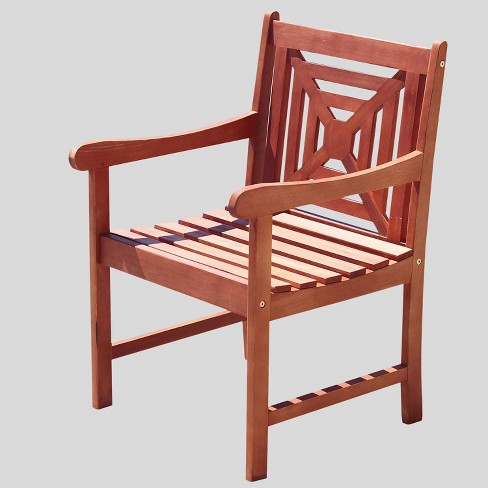 Vifah Malibu Eco-friendly Outdoor Hardwood Garden Arm Chair - image 1 of 3