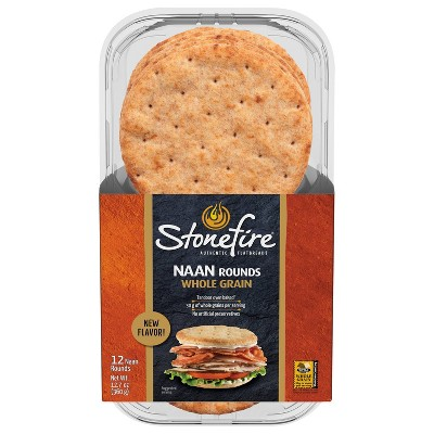 Stonefire Whole Grain Naan Rounds - 12ct
