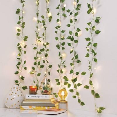 LED Vine Curtain String Lights Warm White - West & Arrow
