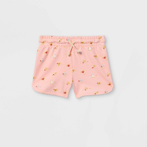 Girls Floral Knit Pull On Shorts Cat Jack Pink M