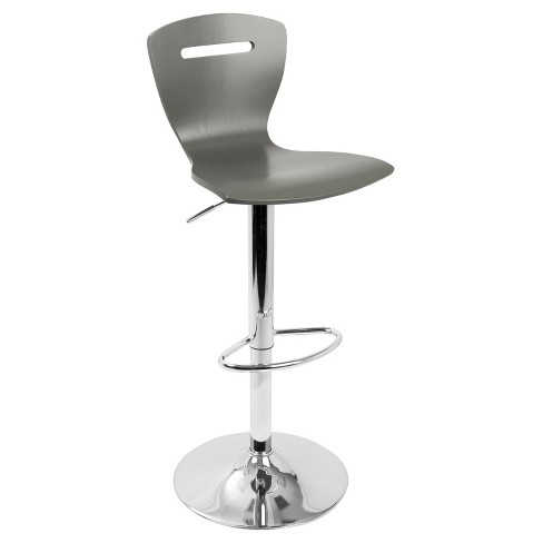 H2 Contemporary Adjustable Barstool - Gray - Lumisource - image 1 of 7