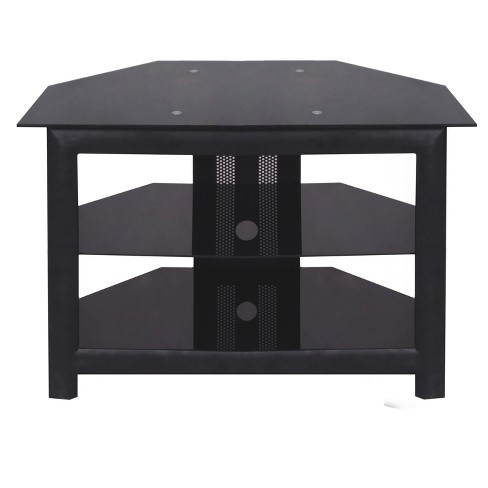 42 Glass Metal Tv Stand Black Home Source Industries Target
