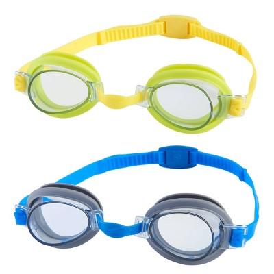 Speedo Kids' Splasher 2pk Goggles - Gray/Lime