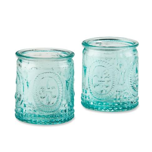 12ct Vintage Blue Glass Tealight Holder - image 1 of 4