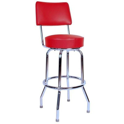 "24"" Floridian Swivel Counter Height Barstool Red - Richardson Seating"