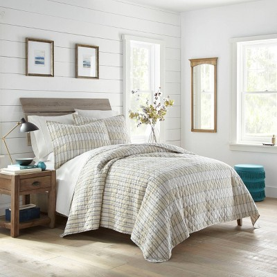King Earl Gray Check Quilt Set Navy - Stone Cottage