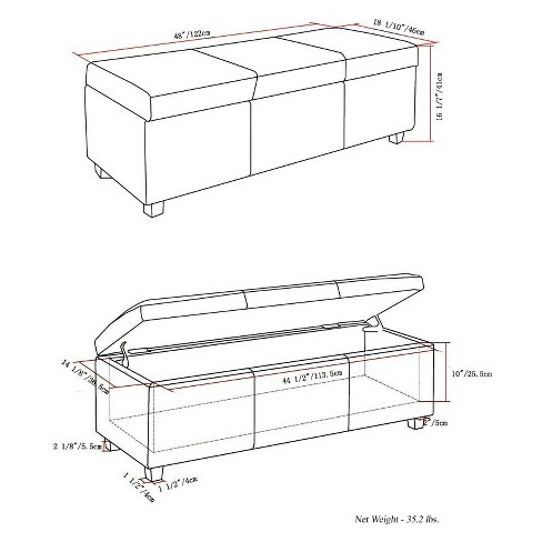 Incredible Avalon Large Rectangular Storage Ottoman Bench Target Alphanode Cool Chair Designs And Ideas Alphanodeonline