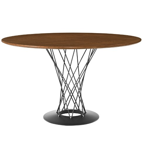 Cyclone Round Wood Top Dining Table - Modway - image 1 of 5