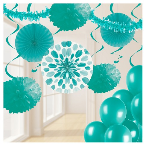 Party Decorating Kit Teal - image 1 of 1
