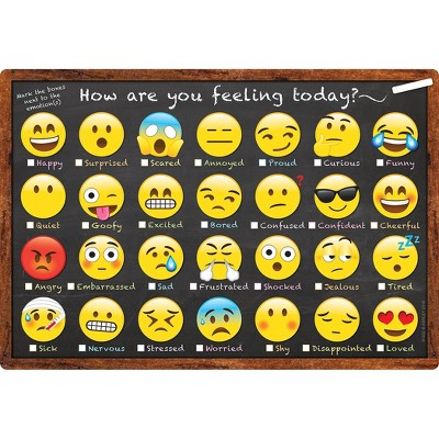 """Ashley Productions Smart Poly Chart 13"""" x 19"""" Emoji How Are You Feeling ASH91032"""
