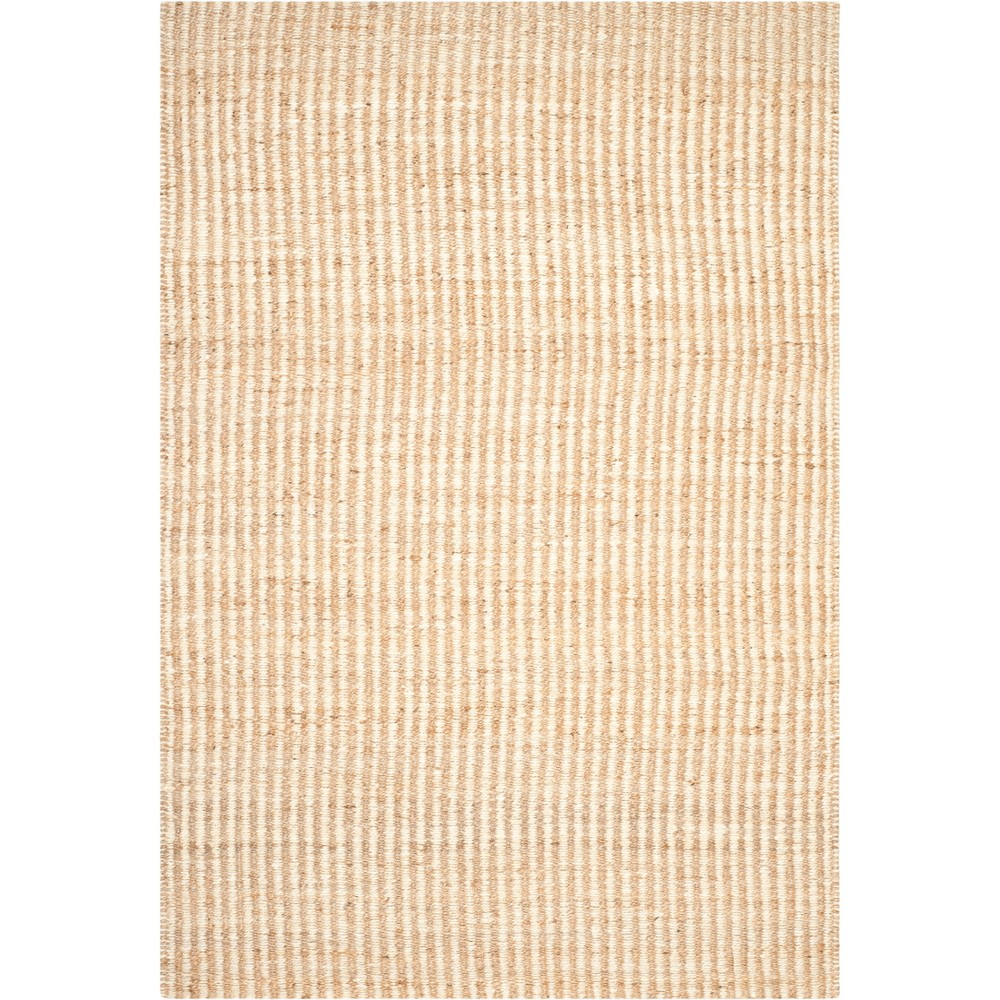 6'X9' Solid Woven Area Rug Natural/Ivory - Safavieh, White