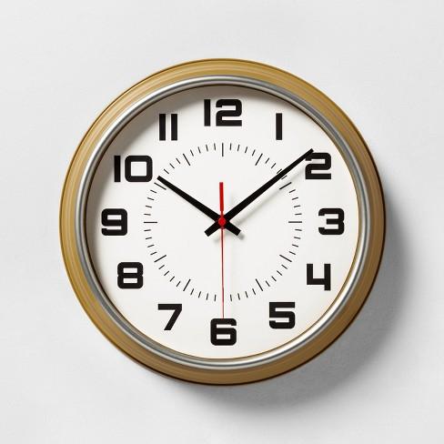 Wall Clock Caramel Yellow - Hearth & Hand™ with Magnolia - image 1 of 3