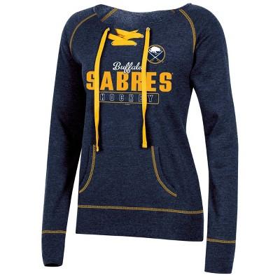 NHL Buffalo Sabres Women's Center Ice Open Neck Fleece Sweatshirt - S