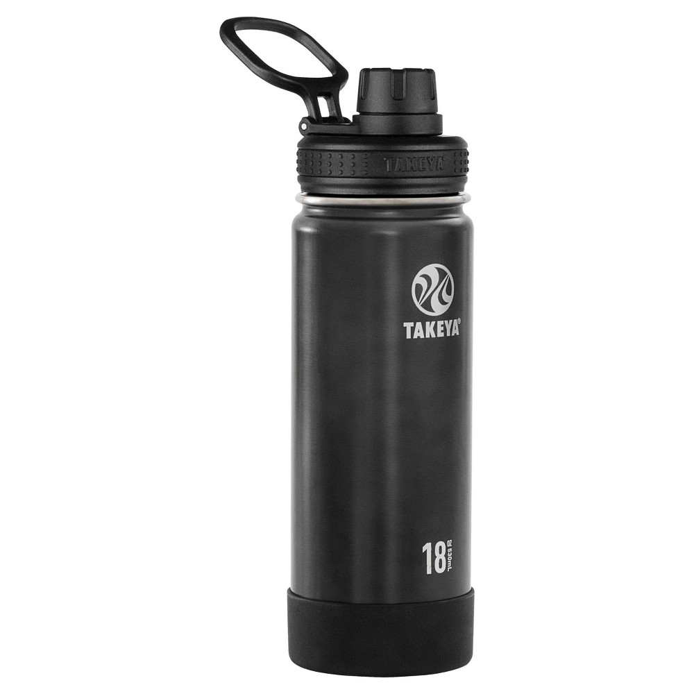 Takeya Actives 18oz Insulated Stainless Steel Water Bottle with Spout Lid - Slate (Grey)
