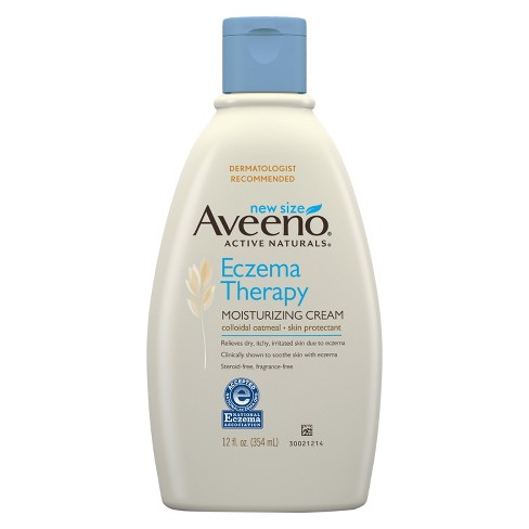 Unscented Aveeno Eczema Therapy Moisturizing Cream Relieves Irritated Skin - 12oz - image 1 of 3
