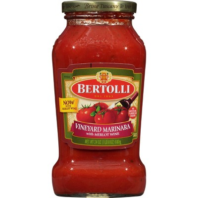 Bertolli Marinara With Burgundy Wine Pasta Sauce - 24oz