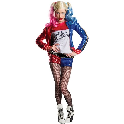 dc comics women s harley quinn halloween costume charades costumes