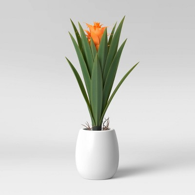 Faux Flower Plant in Pot White/Green - Opalhouse™