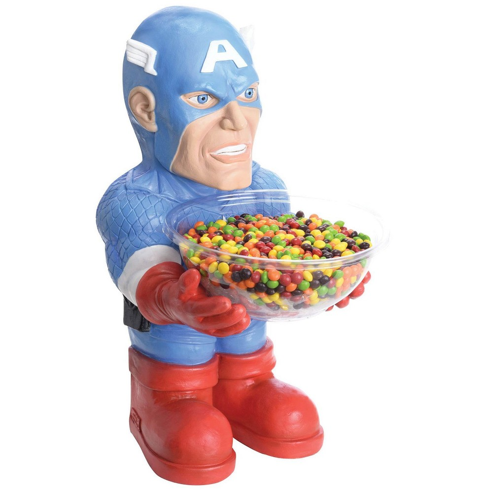 Marvel Halloween Candy Bowl Holder- Captain America, Multi-Colored