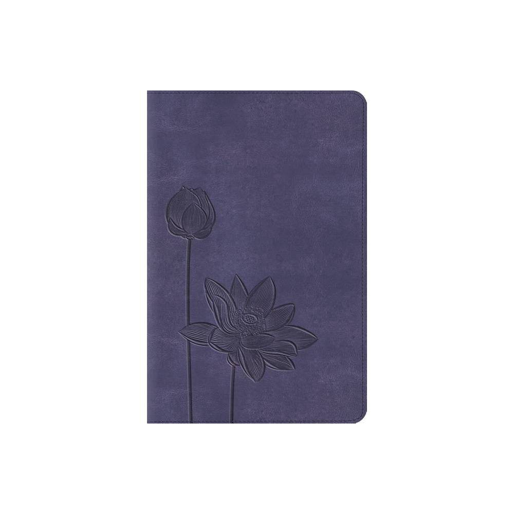 Compact Bible Esv Lavender Bloom Leather Bound