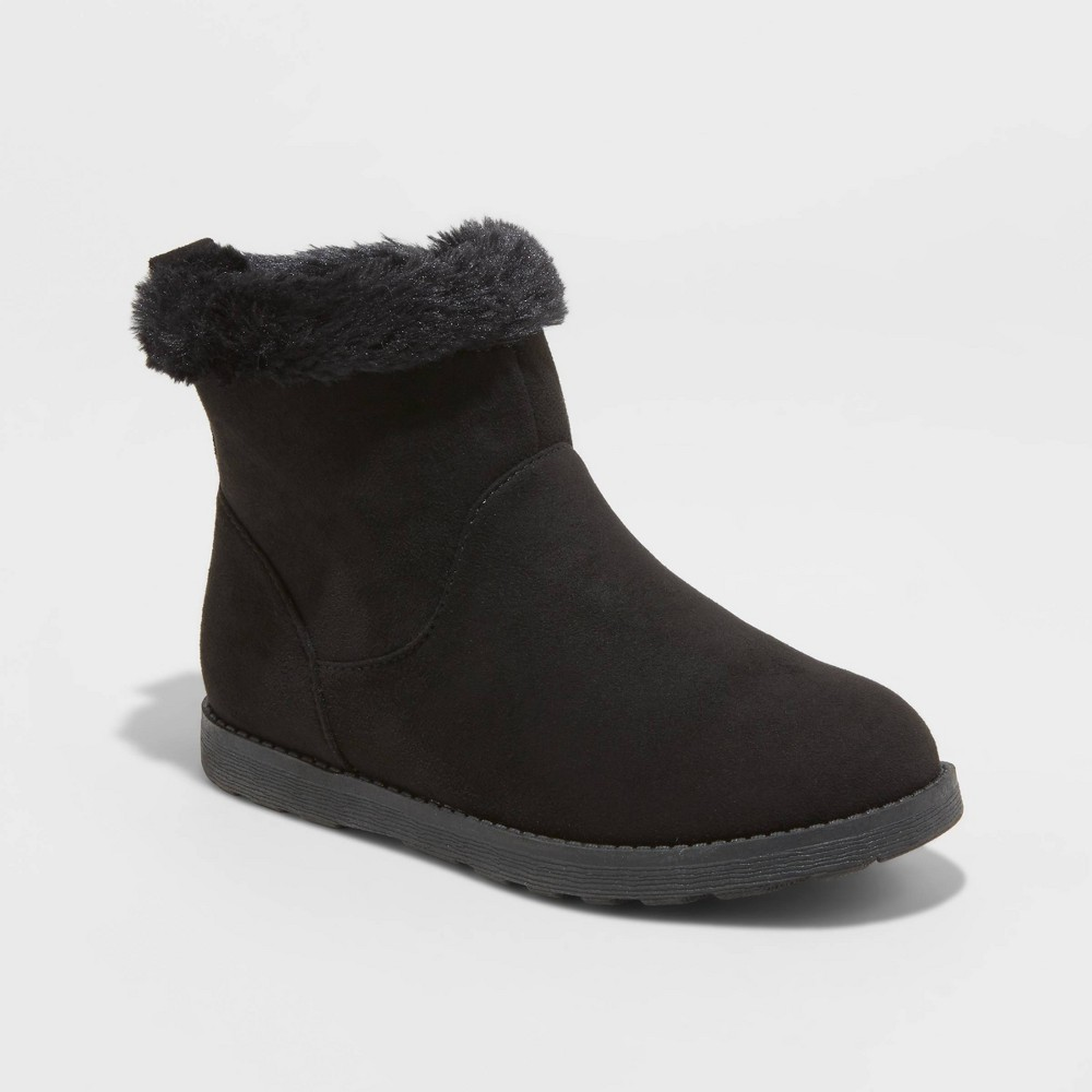 Image of Girls' Haiden Shearling Boots - Cat & Jack Black 2