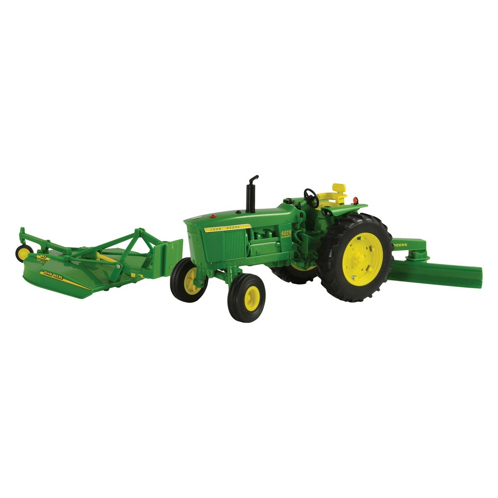 Tomy - Scale Big Farm John Deere 4020 with Rear Blade and Mower 1:16