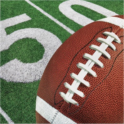 48ct Football Party Football Napkins