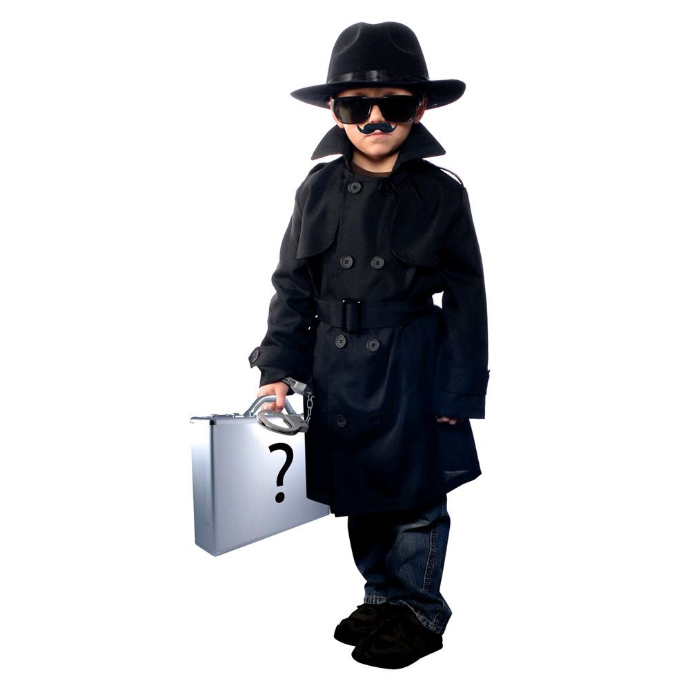 Kids' Jr. Secret Agent Costume Medium (7-8), Boy's, Size: M(7-8)