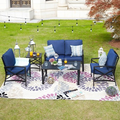 5pc Metal Loveseat Patio Conversation Set - Patio Festival