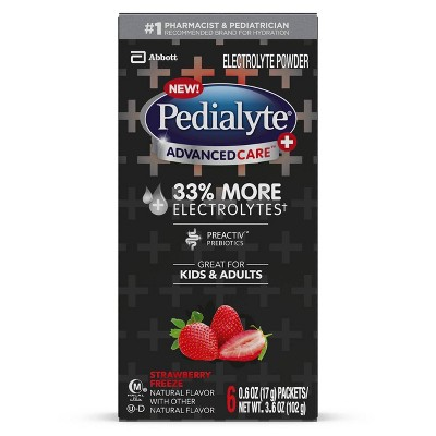 Pedialyte AdvancedCare Plus Electrolyte Powder - Strawberry Freeze - 3.6oz Total