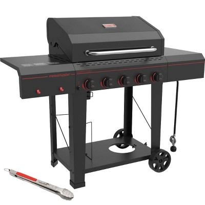 Megamaster 720-0982TG 5 Burner Gas Grill with Stainless Steel Tong