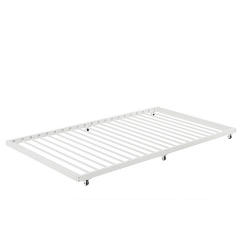 Twin Roll Out Trundle Bed Frame White   Saracina Home : Target