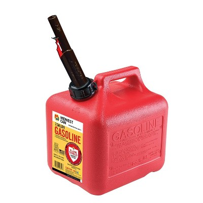 Midwest Can 2gal Gas Can Red Midwest Can