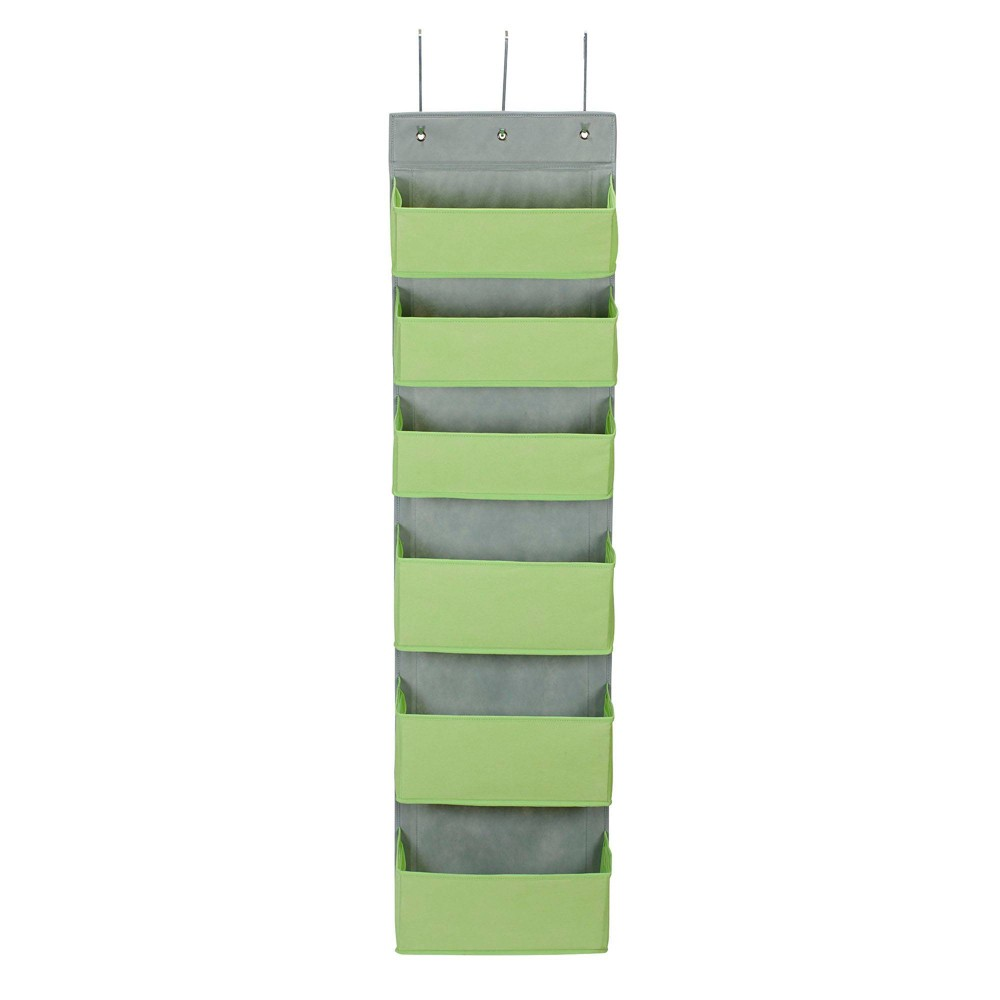 Image of Household Essentials 6 Pocket Over The Door Organizer Lime