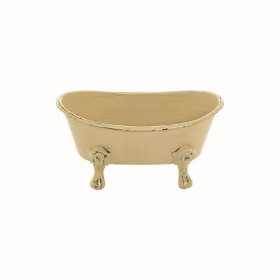 Yellow Enamel Bathtub Soap Dish - Foreside Home & Garden