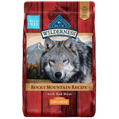 Blue Buffalo Wilderness Grain Free Rocky Mountains Recipe with Red Meat Large Breed Dry Dog Food - 22lbs