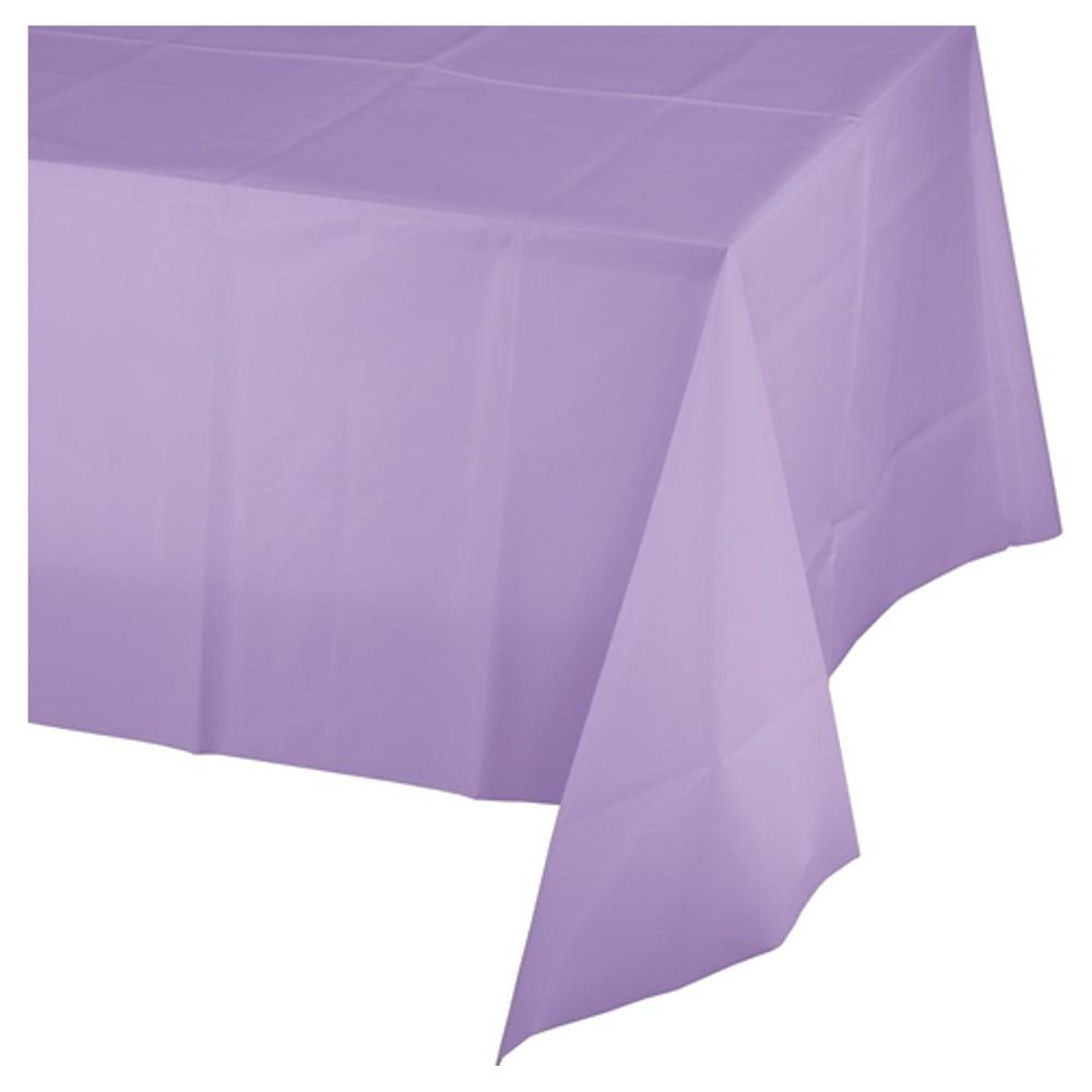 Luscious Lavender Purple Disposable Tablecloth